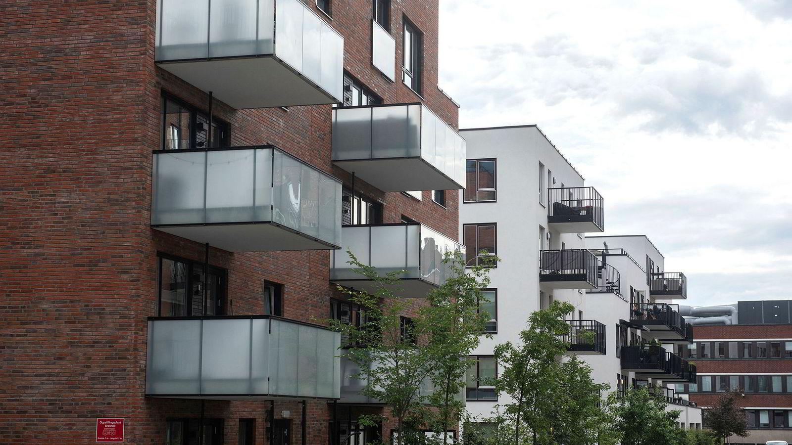 Boligbygging på Hasle i Oslo.