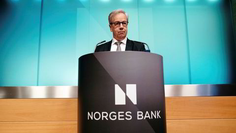Norges Bank og sentralbanksjef Øystein Olsen offentliggjør rentebeskjeden kun skriftlig på mellommøtet torsdag.
