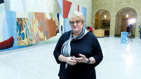 Kilder i Venstre og KrF opplyser til VG at partiene kan komme til å trekke seg fra budsjettforhandlingene. Her Venstre (V) Trine Skei Grande.