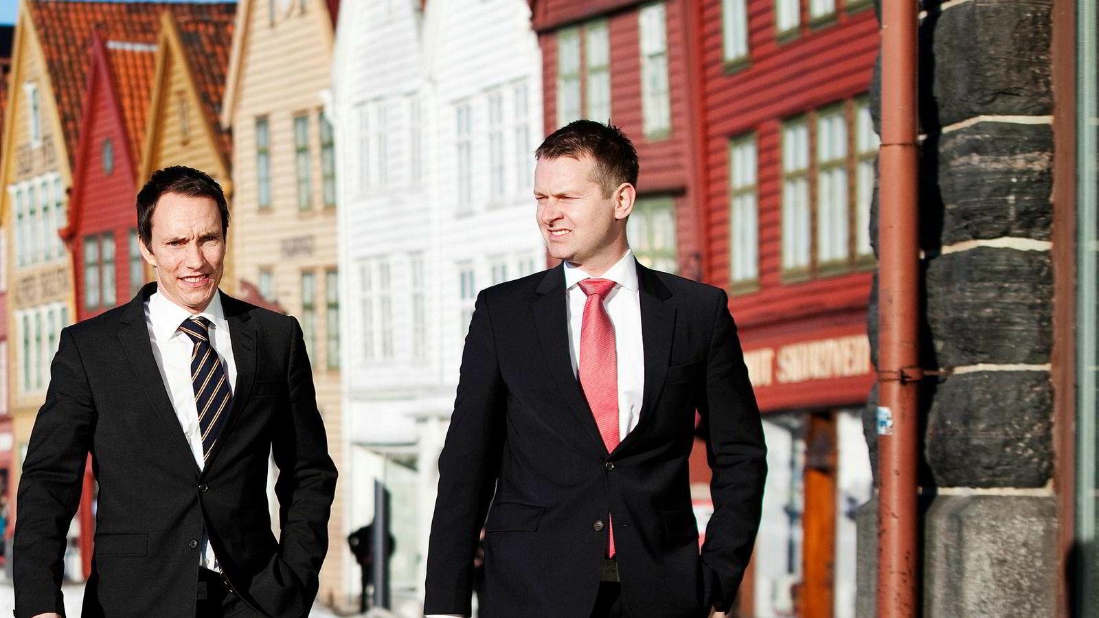 Begge gründerne av Nordic Securities, Erik Egenæs (til venstre) og Endre Tangenes, er blant de saksøkte.