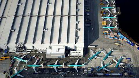 Kraftig fall i leveranser av nye fly fra Boeing.