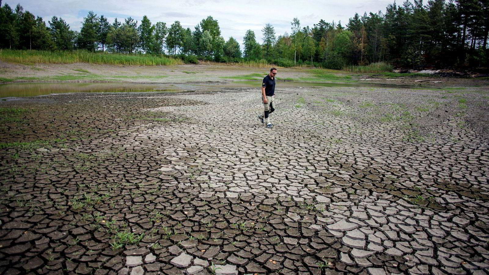 De fleste golfklubbene i Norge har egne vanndammer som de bruker til å vanne. Nøtterøy golfklubb har to, men nå er den ene så å si tom.