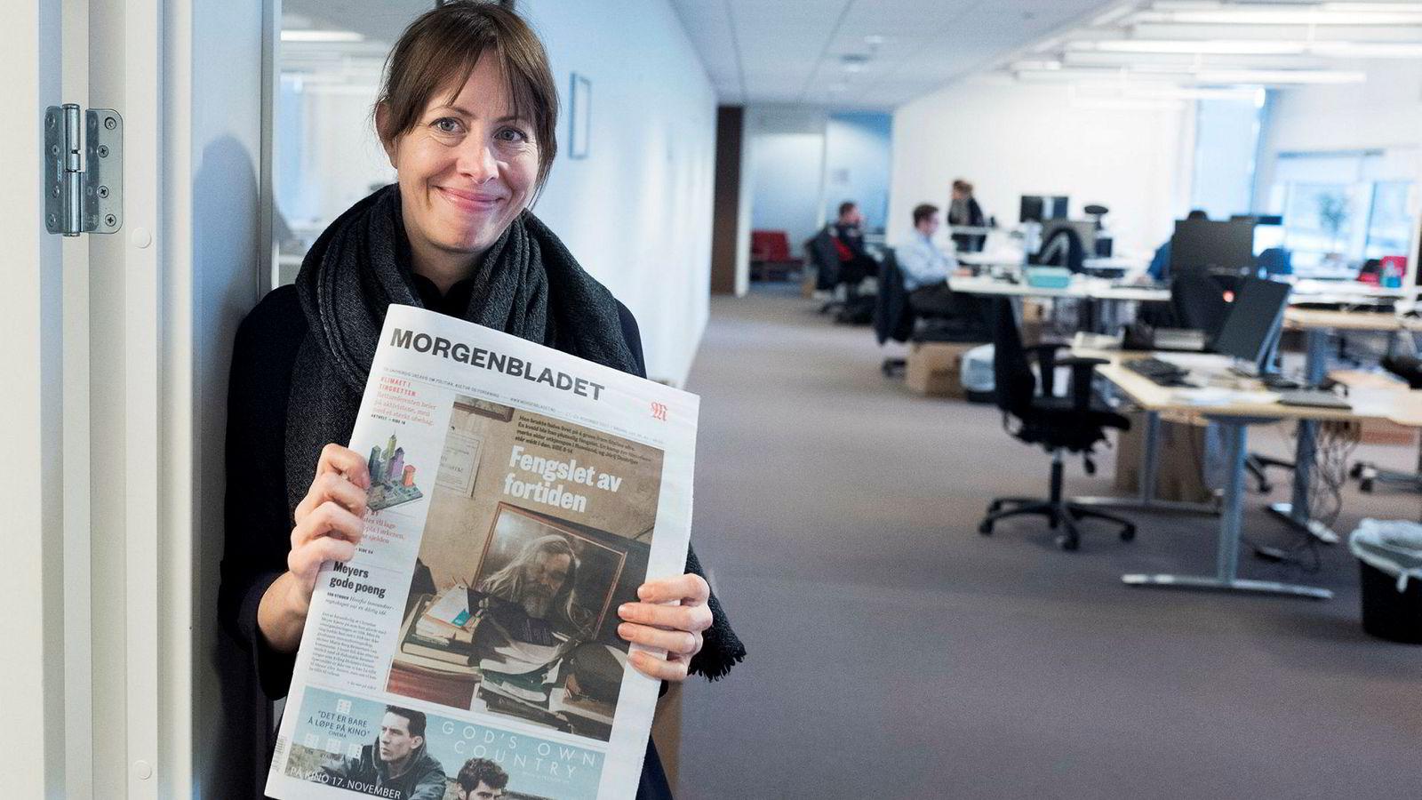 Ansvarlig redaktør Anna B. Jenssen i Morgenbladet sliter med indre stridigheter.