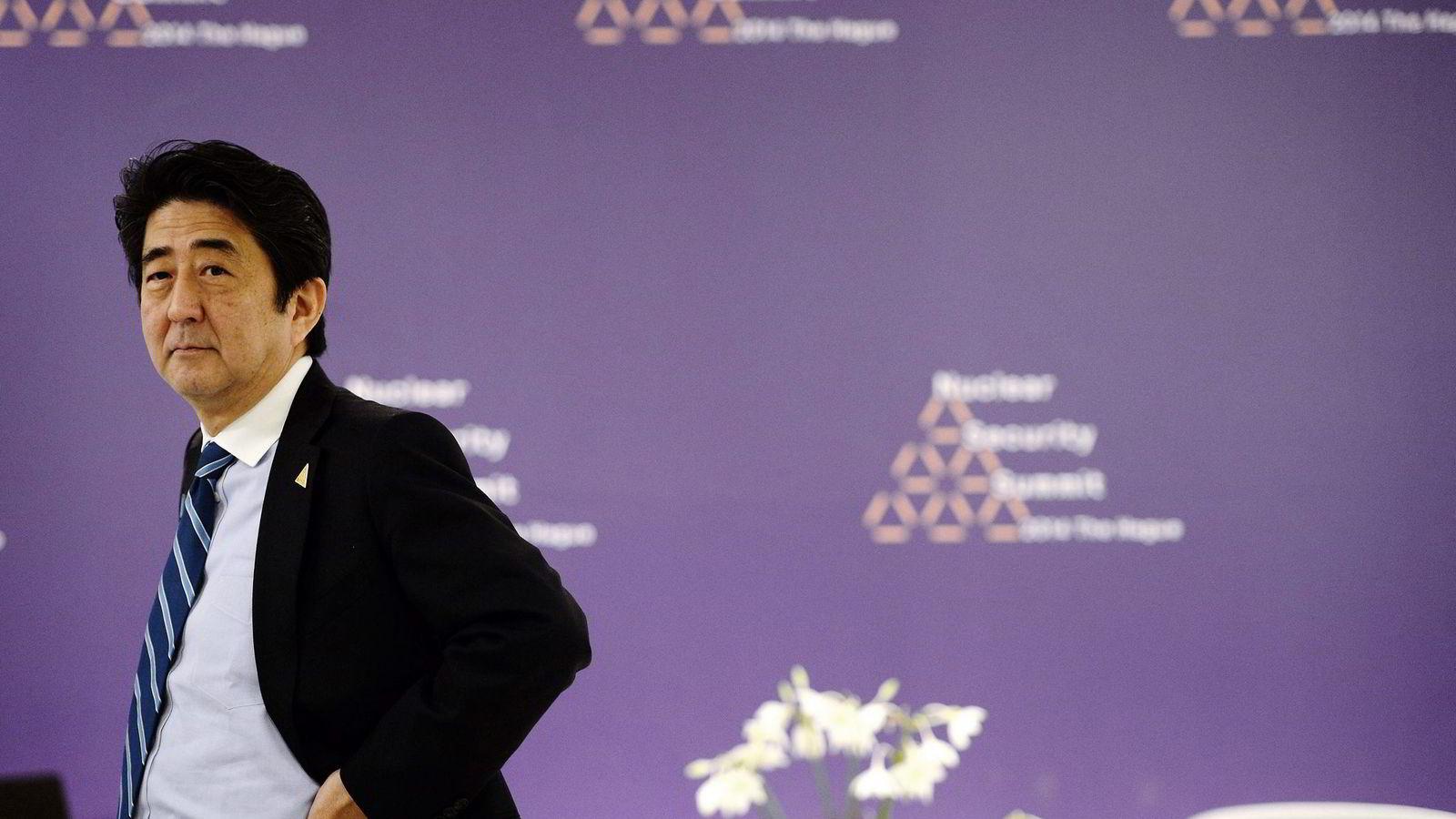 TJENER LITE. Japans statsminister Shinzo Abe har nedsatt en kommisjon som skal finne ut hvordan landets pensjonsfond kan øke avkastningen. Foto: Patrik Stollarz, AFP/NTB Scanpix