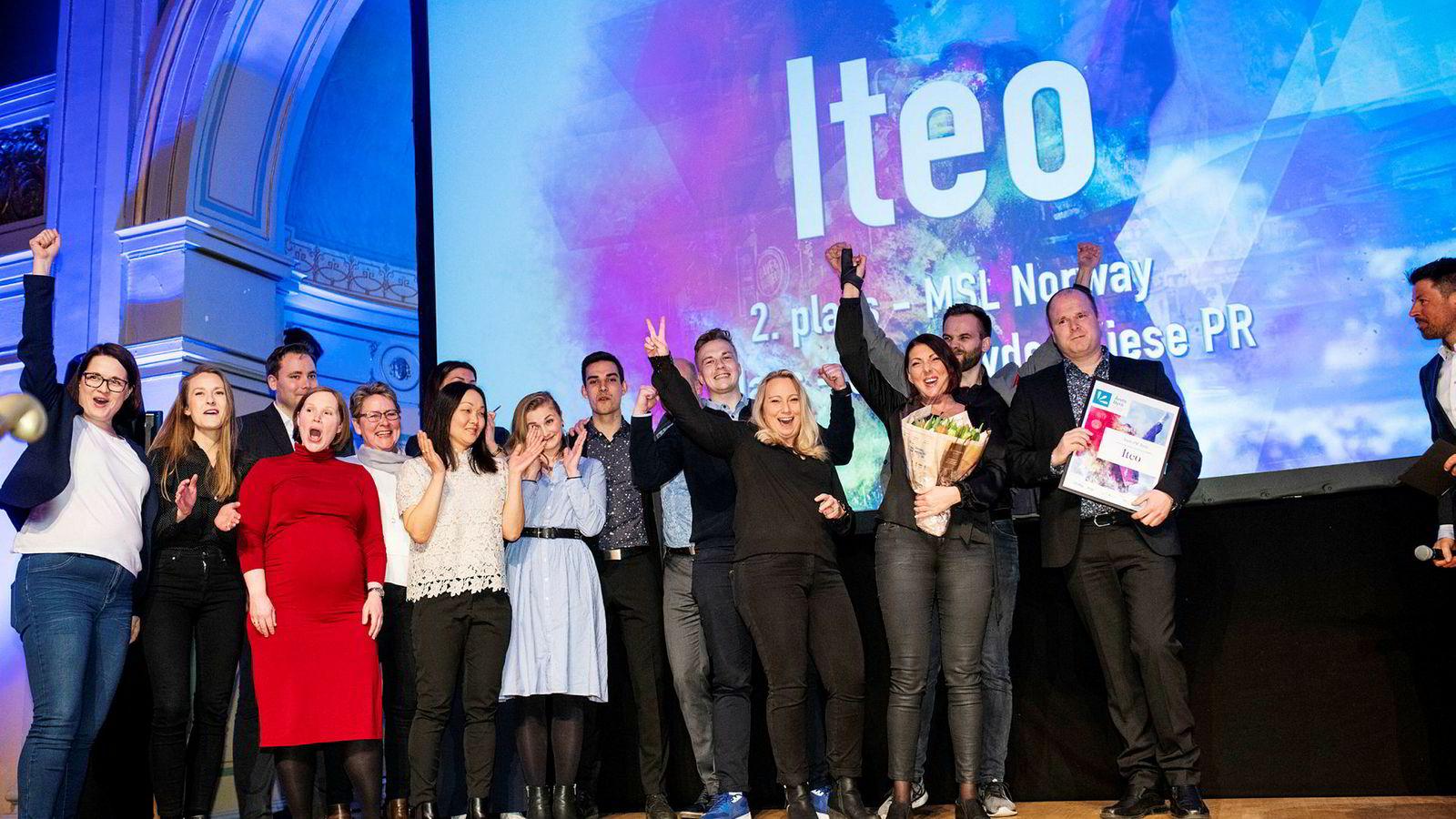 Iteo ble årets pr-byrå under prisutdelingen på Gamle Logen onsdag kveld.