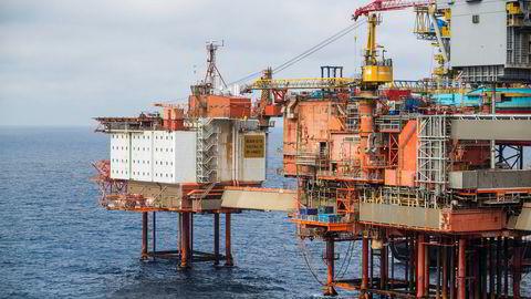 Kaefer Energy vil i løpet av året ansette minst 150 personer i sin oljeservicevirksomhet. En del av arbeidet skal gjøres for Aker BP. Her fra Aker BP-plattformen Valhall i Nordsjøen. Foto: Håkon Mosvold Larsen / NTB scanpix