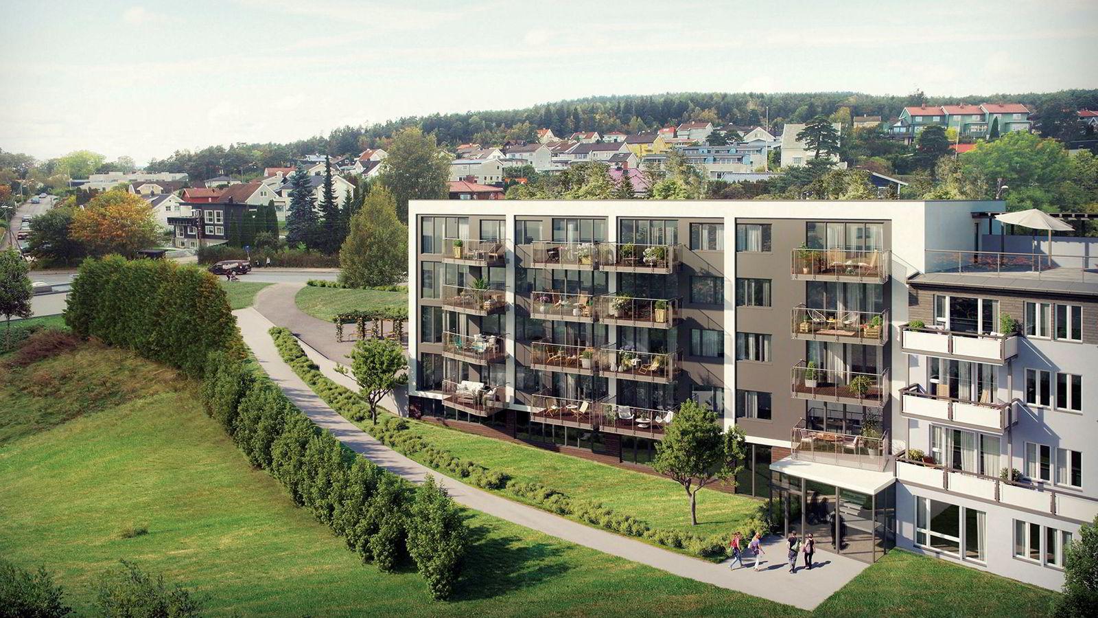 DNB Eiendom Nybygg har solgt 10 av 12 av boligene i dette boligprosjektet på Årvoll senter i Oslo lagt ut i januar.