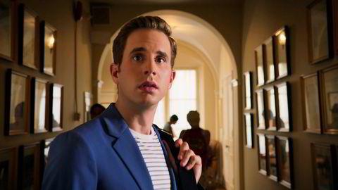 Det er både såpe, musikal og svart humor i ujevn blanding i den første sesongen av «The Politician» på Netflix. Ben Platt spiller presidenthåpefull Payton Hobart.