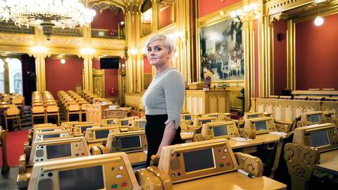 Noen av de beste innleggene jeg har hørt fra en talerstol kommer fra kvinner, og ofte de som ikke er en naturlig del av samfunnsdebatten. Det gjør at jeg stadig prøver å rekruttere flere kvinner inn i lokalpolitikken, skriver Margret Hagerup, her avbildet på Stortinget.