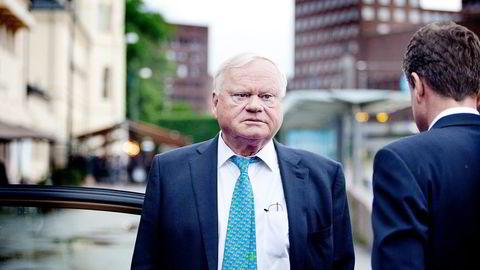 John Fredriksen er styreleder i Seadrill. Aksjen var ned under en prosent tidligere på dagen, men etter meldingen om Tor Olav Trøims avgang akselererte kursfallet. Foto: Ida von Hanno Bast