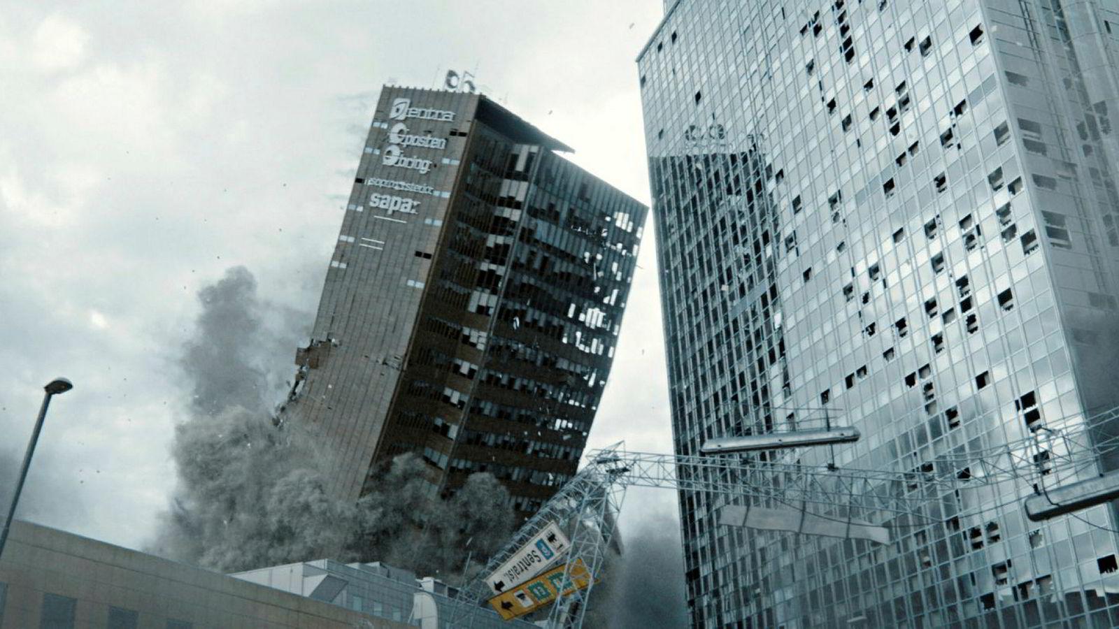 Sannsynligheten for at Oslo vil bli rasert som vi ser i den nye, norske filmen «Skjelvet», er forsvinnende liten.