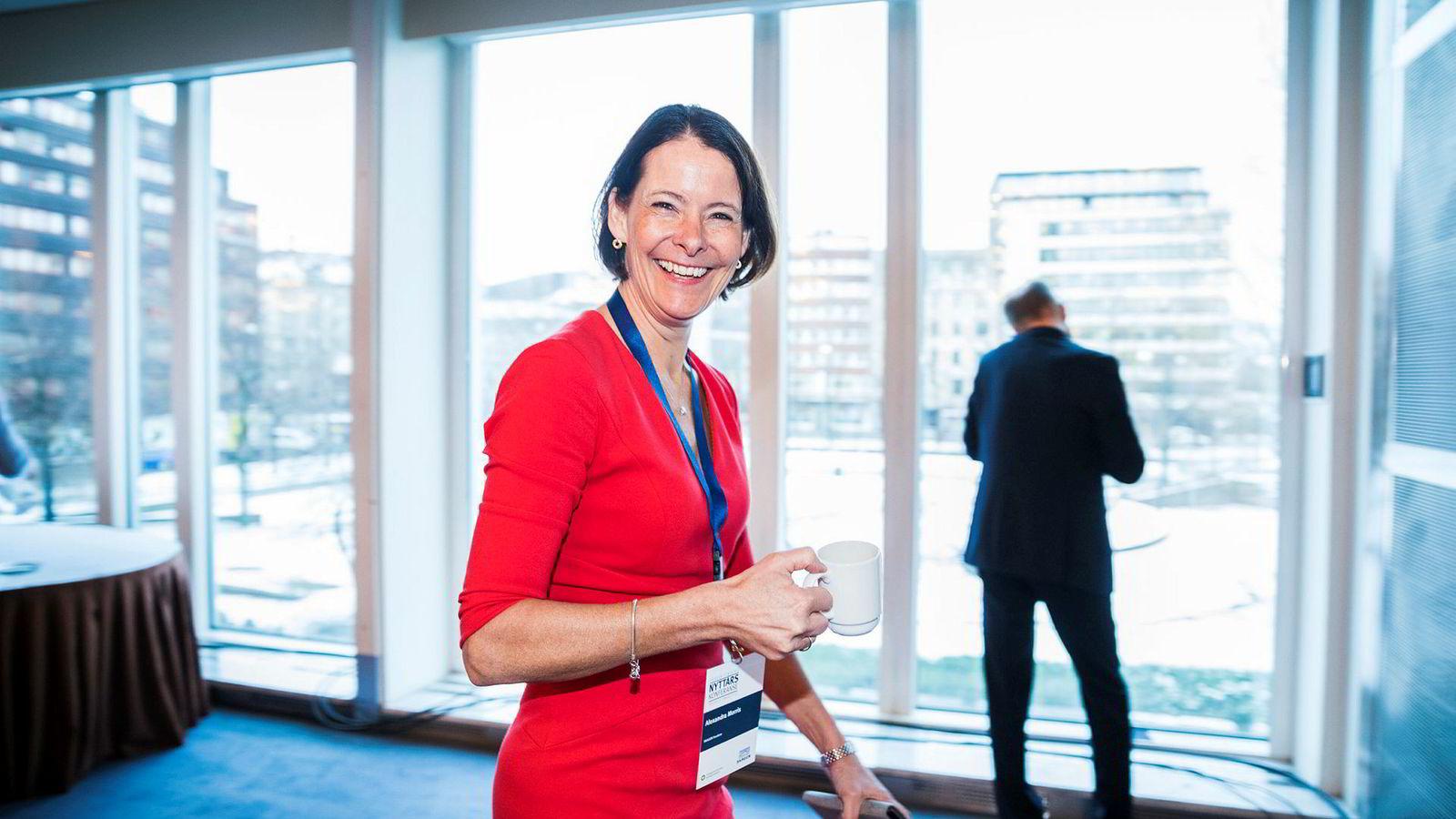 På Skagens nyttårskonferanse. Investeringsdirektør Alexandra Morris i Skagen snakket tirsdag om hvor hun tror det vil være avkastning å hente de neste årene.