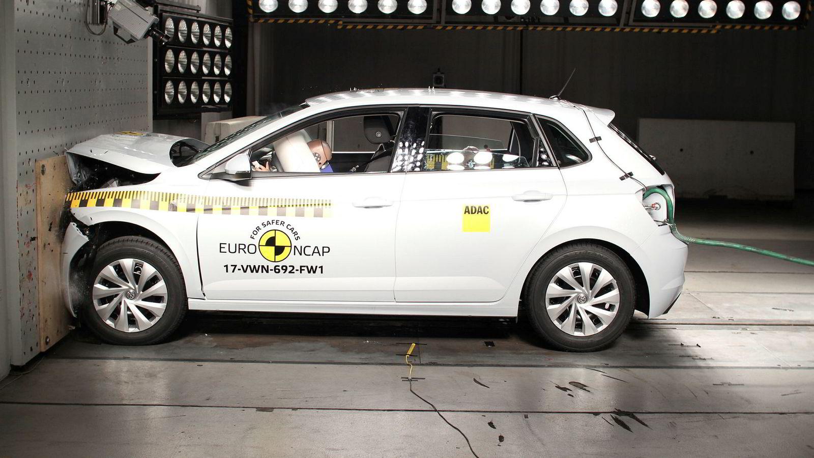 Volkswagen Polo er en av tre modeller fra Volkswagen som gjorde det best i sine klasser i fjorårets kollisjonstester fra Euro NCAP.