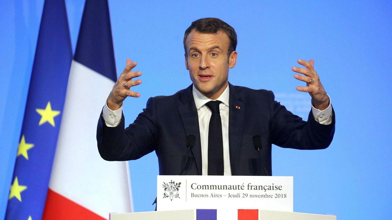 Frankrikes president Emmanuel Macron vil ikke signere en handelsavtale med Mercosur-landene.