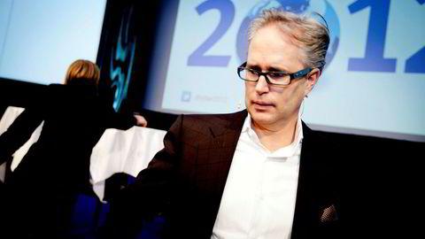 Harald Moræus-Hanssen tjente 97 millioner kroner før skatt i fjor. Her fra Skagen Fondenes nyttårskonferanse i 2012.