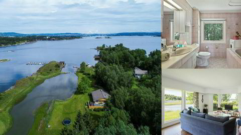 Denne hytta på 131 kvadratmeter er for øyeblikket den dyreste fritidsboligen til salgs i Bærum på Finn.