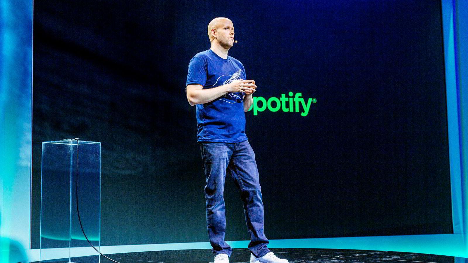 Svenske Daniel Ek er grunnlegger og administrerende direktør i Spotify.