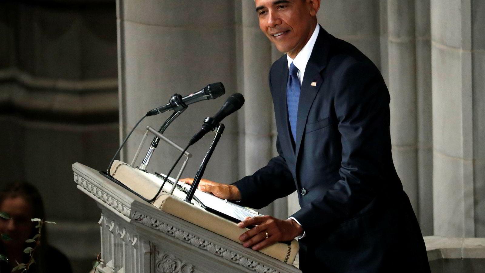 – Den største trusselen mot demokratiet er kynismen. Du må gjøre mer enn bare å retweete en emneknagg, sier USAs tidligere president Barack Obama.