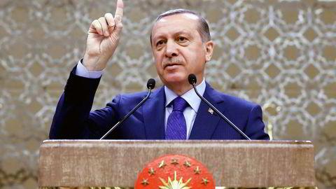 Tyrkias president Recep Tayyip Erdogan. Foto: Yasin Bulbul/AP/NTB Scanpix