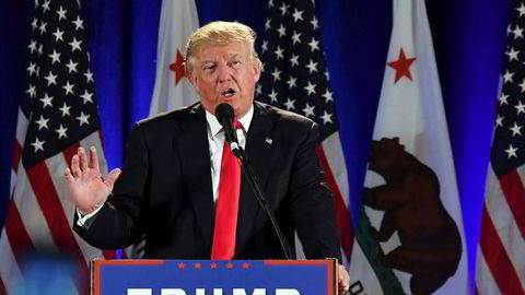 Republikanernes presidentkandidat Donald Trump kan dra fordeler av signaler om en svakere amerikansk økonomi. Foto: Josh Edelson/