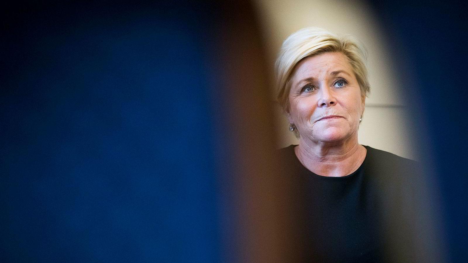 Finansminister Siv Jensen foreslår at alle skal få sin egen pensjonskonto.