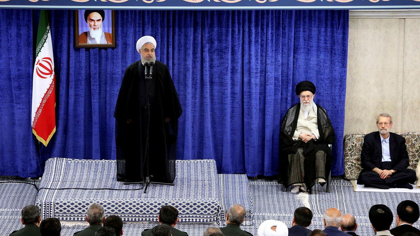 Irans president Hassan Rouhani sier landet ikke lar seg presse av USA.