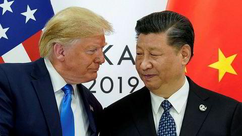 President Donald Trump og Kinas president Xi Jinping møttes i slutten av juni i Japan i forbindelse med G20-møtet.