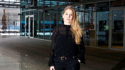 Korreksjonen i aksjemarkedet har fått aksjer til å bli relativt attraktive, mener porteføljeforvalter Anette Hjertø i DNB Asset Management. Her fotografert utenfor DNBs hovedkontor i Bjørvika, Oslo.