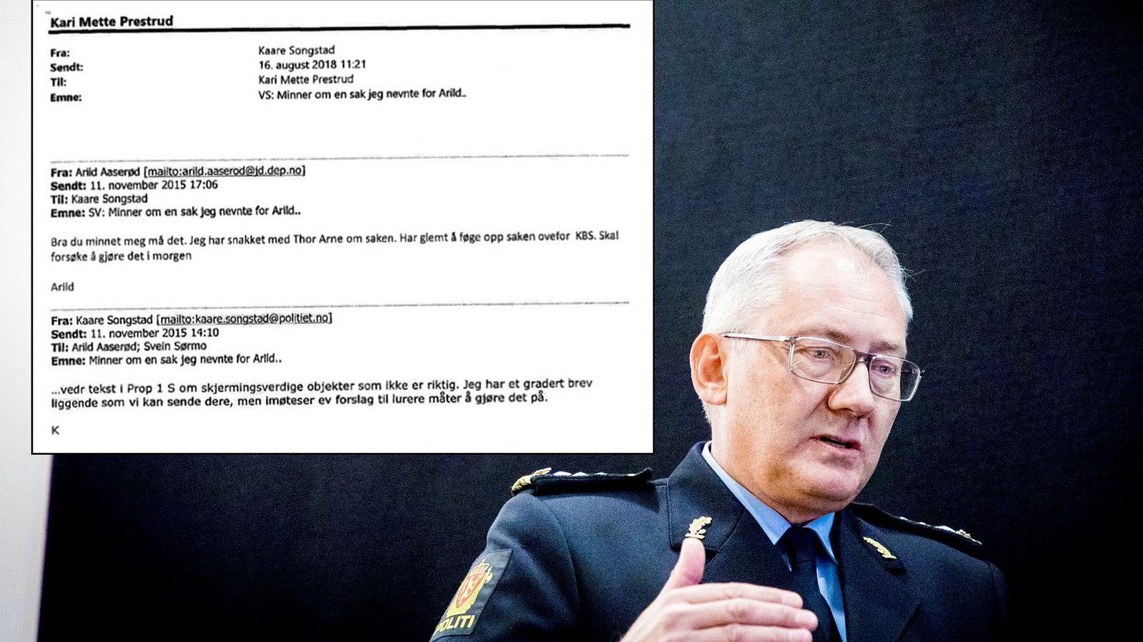 Politidirektoratet sa fra om feilen, informerte politidirektør Odd Reidar Humlegård under mandagens høring.