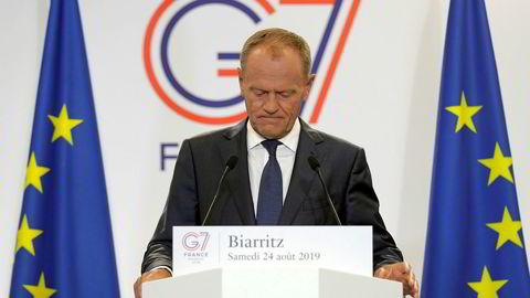 EU-president Donald Tusk på G7-møtet.