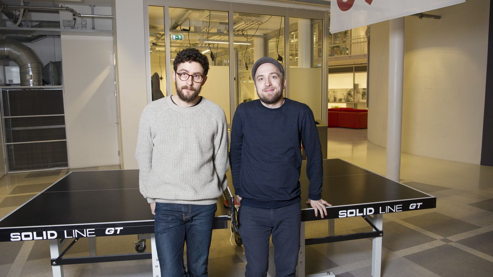 Daniel Butler (35) og Frode Jensen (35) er gründerne i Socius. Medieteknologiselskapet får nå internasjonal oppmerksomhet.
