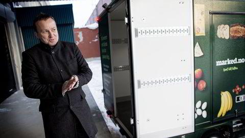 Nettmatselskapet marked.no håper å nå én milliard i omsetning i 2018. - Før det er vi et minusforetak, sier marked.no-sjef Ole Petter Wie. Foto: Ida von Hanno Bast