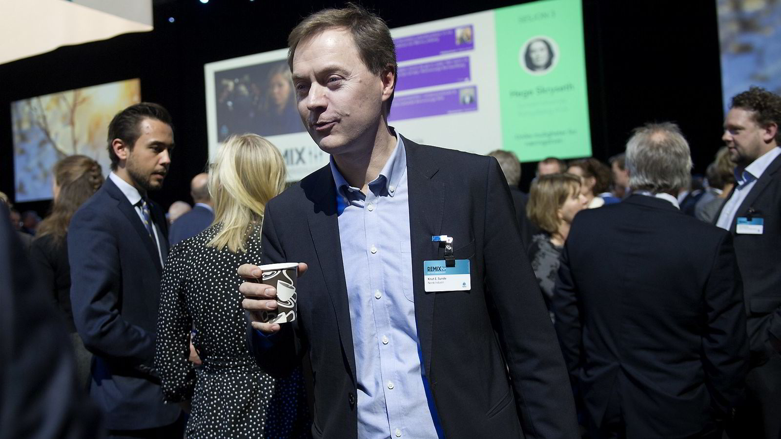 Knut Sunde - direktør i Norsk Industri NHO´s årskonferanse.