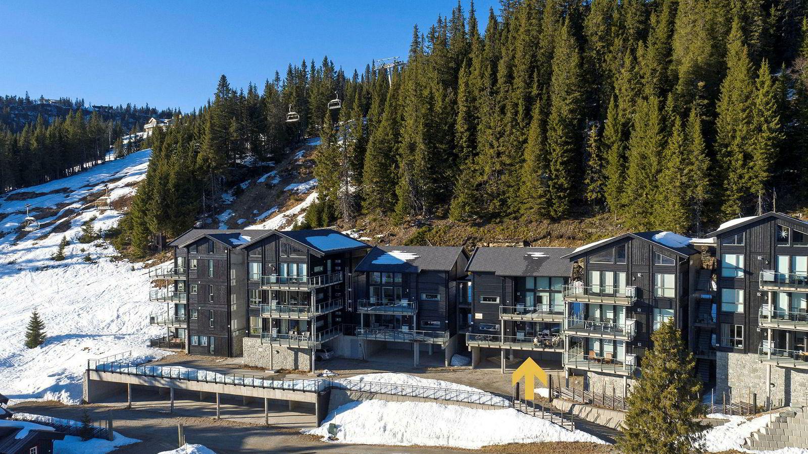 En leilighet på 68 kvadratmeter i dette komplekset på Kvitfjell ble solgt for 2,95 millioner i påsken etter tre dager på markedet.