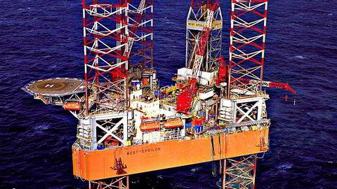 """Den oppjekkbare riggen """"West Epsilon"""", tilhørende Seadrill-selskapet North Atlantic Drilling. Foto: Seadrill."""