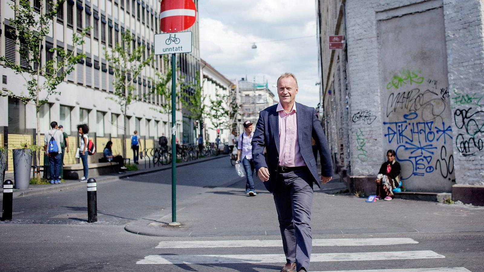 Byrådslederkandidat Raymond Johansen (Ap) står i fare for å ha gått til valg på et forslag til eiendomsskatt som er i strid med loven. Foto: