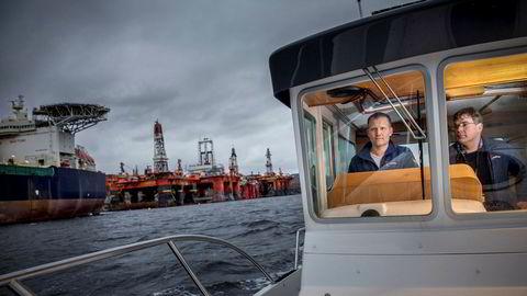 Oljekrisen ga Stian Bogetvedt (tv) og Lars Hellandsjø en flying start. De tilbød opplagsplass for ledige rigger og produksjonsskip.