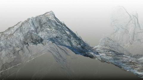 Breer i endring. Det første bildet i serien «Continuous Topography», «Argentière Glacier no. 01», viser den nest største isbreen i Mont Blanc-massivet i Dan Holdsworths underfundige tolkning.