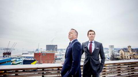 Frank Kachel (til høyre) leder sammen med Ole Hamre Family Office-virksomheten i meglerhuset SEB og forvalter millioner av kroner for de mest formuende familiene i landet.