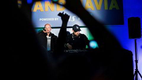 Stargate-duoen Mikkel S. Eriksen (til venstre) og Tor Erik Hermansen mener det er feil av strømmetjenestene å la kunder få lytte til musikk gratis. Før helgen holdt de en intimkonsert under åpningen av South By Southwest i Austin i Texas.