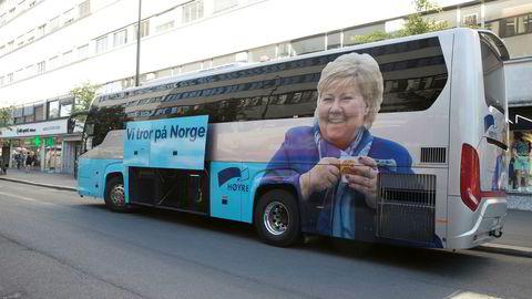 Sommeren 2017 var Høyres buss å se mange steder rundt om i Norge