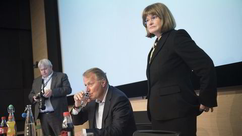 Anne Carine Tanum ble tirsdag forrige uke gjenvalgt som styreleder i DNB. Men valget var i utgangspunktet i strid med bankens vedtekter. Foto: Per Ståle Bugjerde