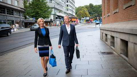 Administrerende direktør Cecilie Grue og styreleder Lars Christian Beitnes i Element.