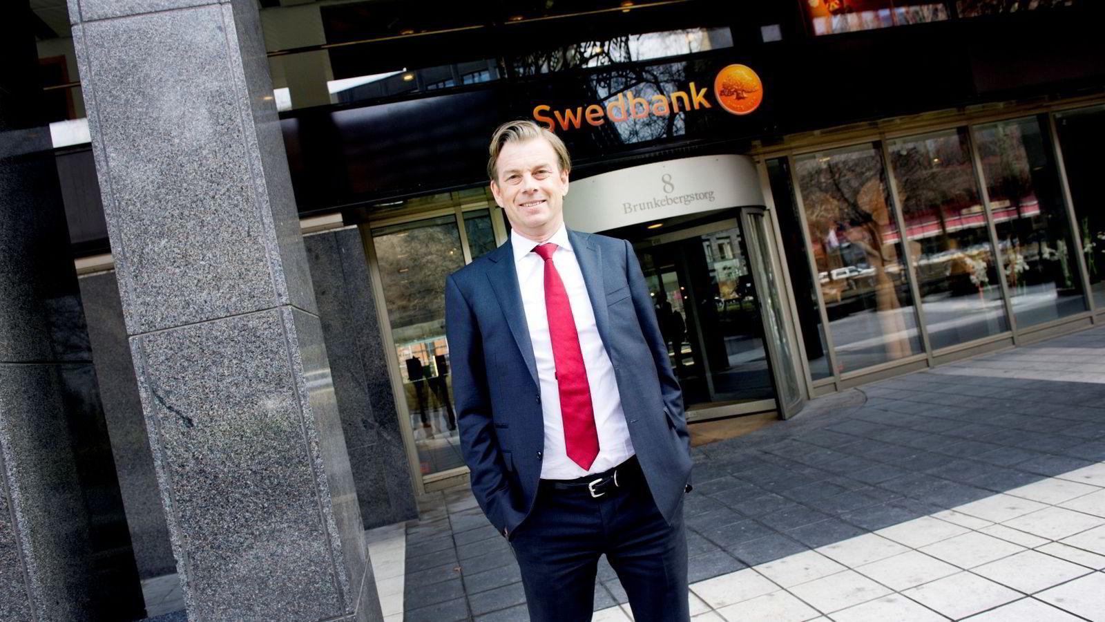 Michael Wolf, konsernsjef i Swedbank.