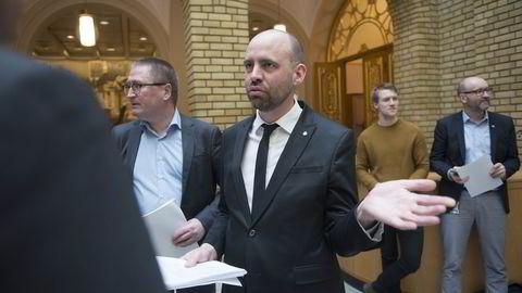 Arild Grande (Ap) snekret avtalen som alle partiene bortsett Frp står bak. Foto: Per Ståle Bugjerde