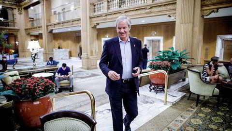 Bjørn Kjos i lobbyen på Fairmount Olympic Hotel i Seattle tidligere i år.