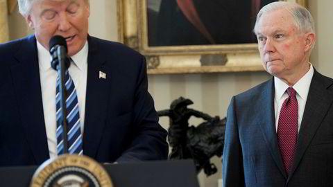 USAs president Donald Trump har de siste dagene kommet med flere harde utfall mot justisminister Jeff Sessions. Foto: Saul Loeb/AFP/NTB Scanpix