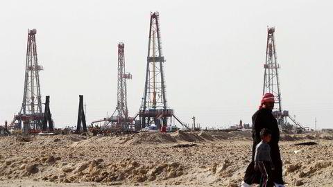 Opecs oljeproduksjon økte i oktober. Her produseres det olje på Rumaila-feltet i Opec-landet Irak. Foto: Essam Al-Sudani/Reuters/NTB Scanpix