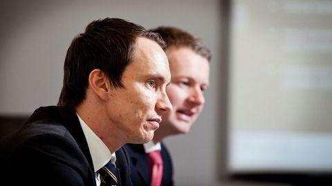 Gründerne bak The Nordic Group, Erik Egenæs (til venstre) og Endre Tangenes, har også vært med på eierskapet i meglerhuset Premieer, som kan miste konsesjonen. Egenæs og Tangenes er nå helt ute av selskapene.