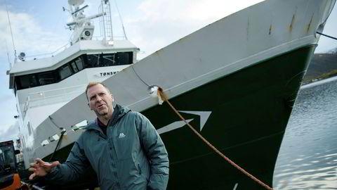 Tommy Torvanger blir konsernsjef i Norsk Sjømat. Her foran en av rederiets trålere.